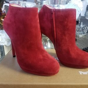 Christian louboutin Red suede Boot/Bootie